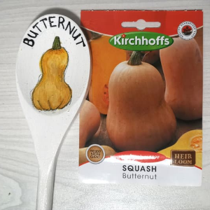 Butternet Garden spoon label and seeds